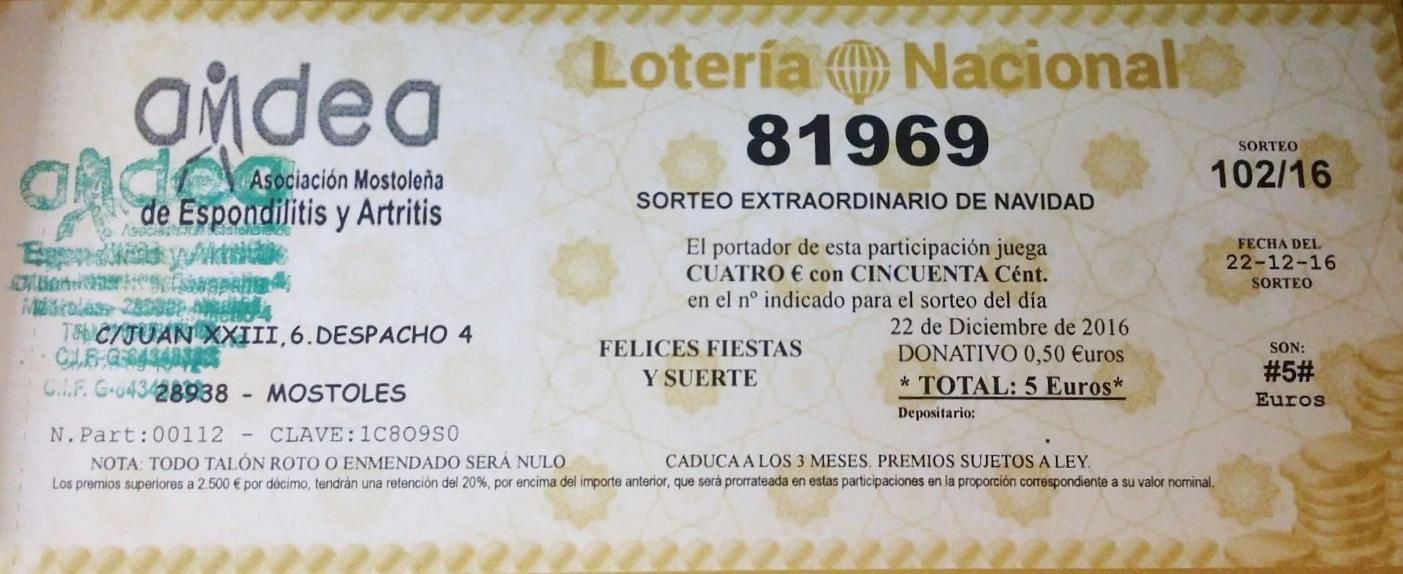 LOTERÍA DE NAVIDAD: 81969