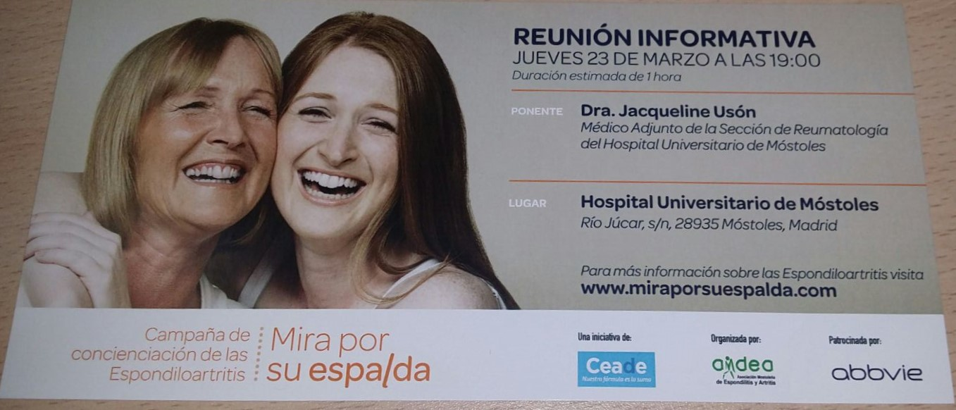 REUNIÓN INFORMATIVA: «MIRA POR SU ESPALDA»