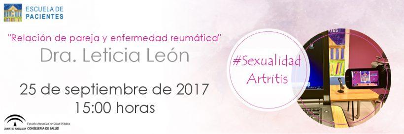 SEXUALIDAD Y ARTRITIS AMDEA ESCUELA DE PACIENTES
