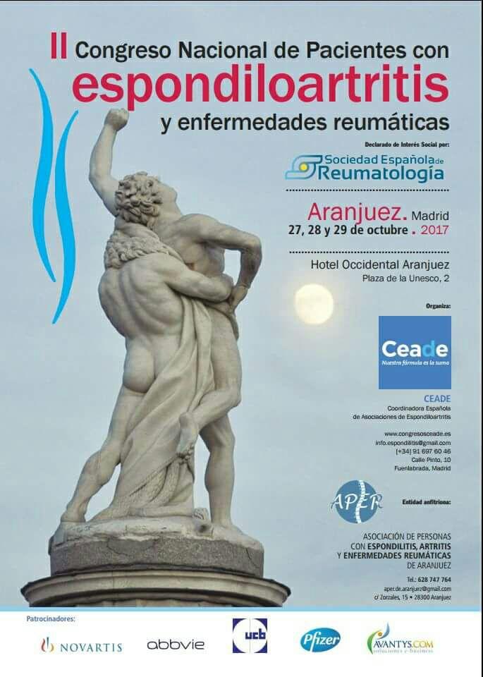 II CONCRESO NACIONAL DE PACIENTES CON ESPONDILOARTRITIS Y ENFERMEDADES REUMÁTICAS AMDEA