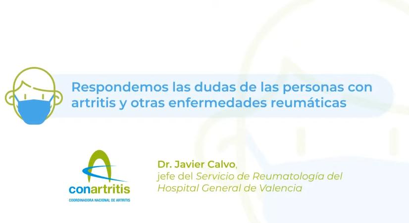 Respuesta a las dudas de las personas con artritis sobre el COVID19