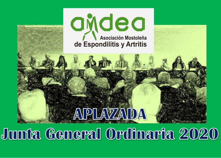 APLAZAMIENTO JUNTA GENERAL ORDINARIA POR COVID 19