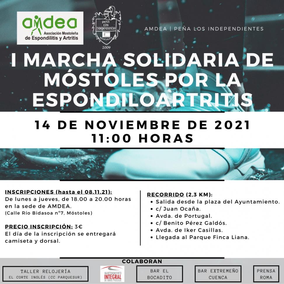 I MARCHA SOLIDARIA DE MÓSTOLES POR LA ESPONDILOARTRITIS